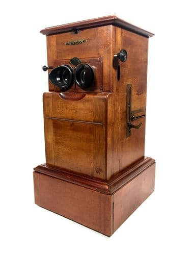 Antique French Mahogany Le Taxiphote / Stereo Viewer / Metascope & Slide Job Lot